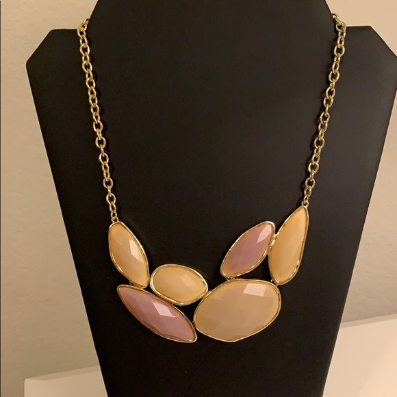Francesca's Collections Jewelry - NWOT Purple and Cream BIB Necklace